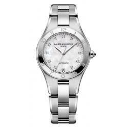 Kaufen Sie Baume & Mercier Damenuhr Linea 10074 Diamanten Perlmutt Automatik