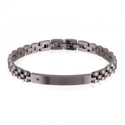 Breil Herrenarmband Black Diamond TJ2400