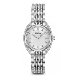 Kaufen Sie Bulova Damenuhr Curv Diamonds 96R212 Diamanten Quartz