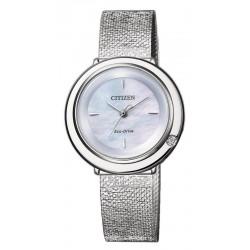 Citizen Damenuhr Ambiluna Eco-Drive EM0640-82D Diamant Perlmutt