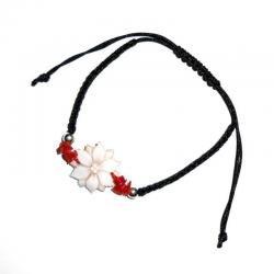 Rote Korallen und Silber Damenarmband CR113