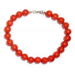 Rote Korallen und Silber Damenarmband CR127