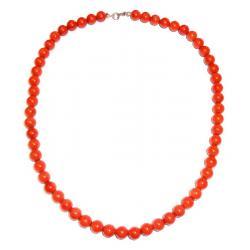 Rote Korallen und Silber Damenhalskette CR212