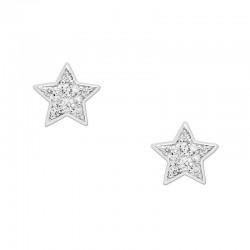 Fossil Damenohrringe Sterling Silver JFS00152040 Stern