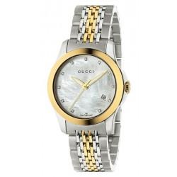 Kaufen Sie Gucci Damenuhr G-Timeless Small YA126513 Diamanten Perlmutt