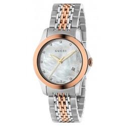 Kaufen Sie Gucci Damenuhr G-Timeless Small YA126514 Diamanten Perlmutt