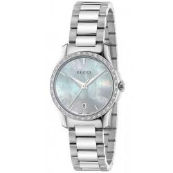 Kaufen Sie Gucci Damenuhr G-Timeless Small YA126525 Diamanten Perlmutt Quartz