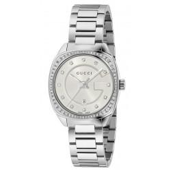 Gucci Damenuhr GG2570 Small YA142505 Diamanten Quartz
