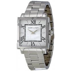 Kaufen Sie Hamilton Damenuhr Jazzmaster Square H32291114 Diamanten Perlmutt