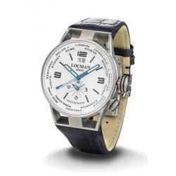 Locman Herrenuhr Montecristo World Dual Time Quartz 0508A08S-00WHBKPB