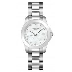Kaufen Sie Longines Damenuhr Conquest L33774876 Diamanten Perlmutt Quartz