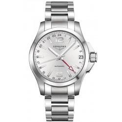 Kaufen Sie Longines Herrenuhr Conquest L36874766 GMT Automatik