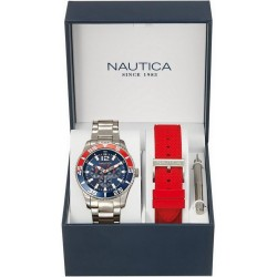 Nautica Herrenuhr NST 07 Box Set NAI16500G Multifunktions