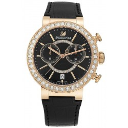 Kaufen Sie Swarovski Damenuhr Citra Sphere Chrono Black Rose Gold Tone 5055209