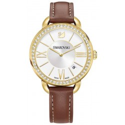 Kaufen Sie Swarovski Damenuhr Aila Day Brown Yellow Gold Tone 5095940
