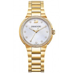 Kaufen Sie Swarovski Damenuhr City Mini Yellow Gold Tone 5221172 Perlmutt