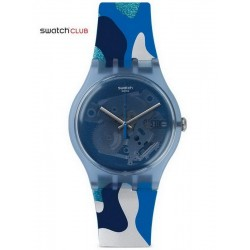 Swatch Club Unisexuhr New Gent Silverscape SUOZ215