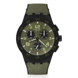 Swatch Herrenuhr Chrono Plastic Dark Forest SUSB105