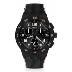 Swatch Herrenuhr Chrono Plastic Black Cord SUSB106