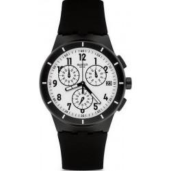 Kaufen Sie Swatch Unisexuhr Chrono Plastic Twice Again Black SUSB401 Chronograph