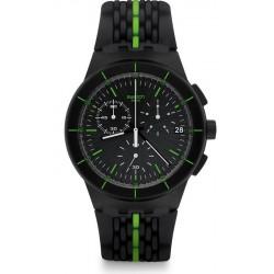 Kaufen Sie Swatch Herrenuhr Chrono Plastic Laser Track SUSB409 Chronograph