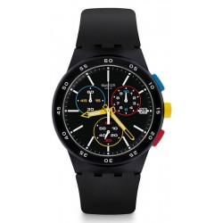 Swatch Unisexuhr Chrono Plastic Black-One SUSB416