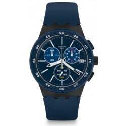 Kaufen Sie Swatch Herrenuhr Chrono Plastic Blue Steward SUSB417 Chronograph