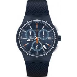 Kaufen Sie Swatch Herrenuhr Chrono Plastic Gara In Blu SUSN410 Chronograph