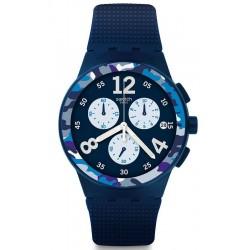 Kaufen Sie Swatch Herrenuhr Chrono Plastic Camoblu SUSN414 Chronograph