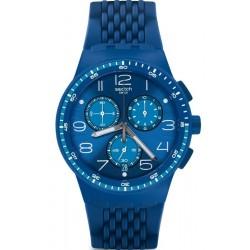 Kaufen Sie Swatch Unisexuhr Chrono Plastic Triple Blu SUSN415 Chronograph