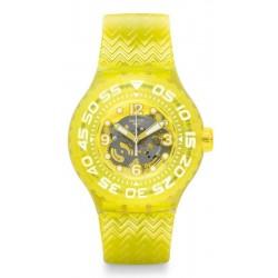 Swatch Unisexuhr Scuba Libre Lemon Profond SUUJ101