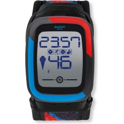 Swatch Herrenuhr Digital Touch Zero One Funkzero SUVB101