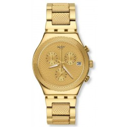 Swatch Unisexuhr Irony Chrono Goldy Full YCG420G Chronograph