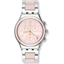 Swatch Damenuhr Irony Chrono Dreamnight Rose YCS588G Chronograph