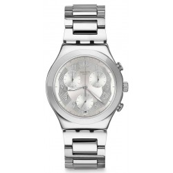 Swatch Unisexuhr Irony Chrono Silver Ring YCS604G Chronograph