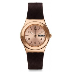 Swatch Damenuhr Irony Medium Brownee YLG701
