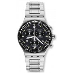 Swatch Herrenuhr Irony Chrono Night Flight YVS444G Chronograph