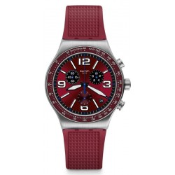 Swatch Unisexuhr Irony Chrono Wine Grid YVS464 Chronograph