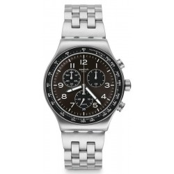 Swatch Herrenuhr Irony Chrono Deepgrey YVS465G Chronograph