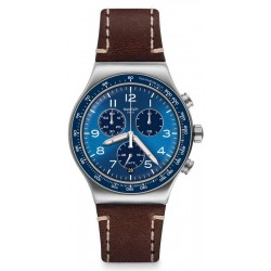 Swatch Herrenuhr Irony Chrono Casual Blue YVS466 Chronograph