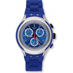 Swatch Herrenuhr Irony Xlite Blue Attack YYS4017AG Chronograph
