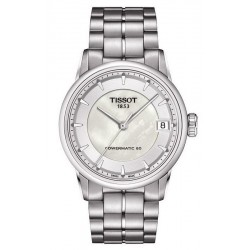Tissot Damenuhr Luxury Powermatic 80 T0862071111100 Perlmutt