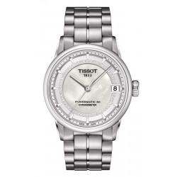 Tissot Damenuhr Luxury Powermatic 80 COSC T0862081111600 Diamanten