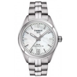 Tissot Damenuhr PR 100 Powermatic 80 T1012071111600 Diamanten